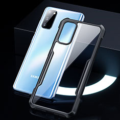 Custodia Silicone Trasparente Specchio Laterale Cover H01 per Samsung Galaxy S20 5G Nero
