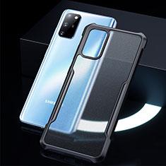 Custodia Silicone Trasparente Specchio Laterale Cover H01 per Samsung Galaxy S20 Plus 5G Nero