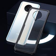 Custodia Silicone Trasparente Specchio Laterale Cover H01 per Xiaomi Redmi K30 Pro 5G Nero