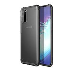 Custodia Silicone Trasparente Specchio Laterale Cover H02 per Samsung Galaxy S20 5G Nero