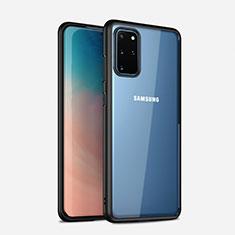 Custodia Silicone Trasparente Specchio Laterale Cover H02 per Samsung Galaxy S20 Plus Nero
