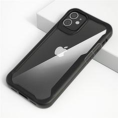 Custodia Silicone Trasparente Specchio Laterale Cover M01 per Apple iPhone 12 Max Nero