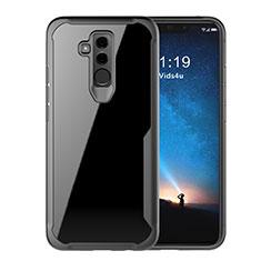 Custodia Silicone Trasparente Specchio Laterale Cover M01 per Huawei Mate 20 Lite Nero