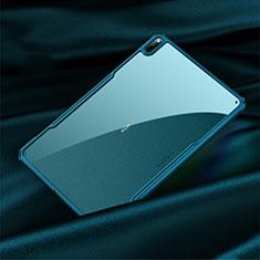 Custodia Silicone Trasparente Specchio Laterale Cover M01 per Huawei MatePad Pro 5G 10.8 Ciano