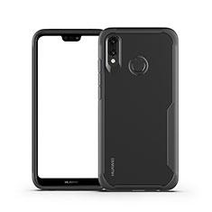 Custodia Silicone Trasparente Specchio Laterale Cover M01 per Huawei P20 Lite Nero