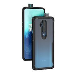 Custodia Silicone Trasparente Specchio Laterale Cover M01 per OnePlus 7T Pro Nero