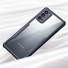Custodia Silicone Trasparente Specchio Laterale Cover M01 per Samsung Galaxy Note 20 5G Nero