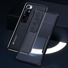 Custodia Silicone Trasparente Specchio Laterale Cover M01 per Xiaomi Mi 10 Ultra Nero