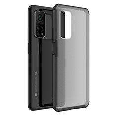 Custodia Silicone Trasparente Specchio Laterale Cover M01 per Xiaomi Mi 10T 5G Nero