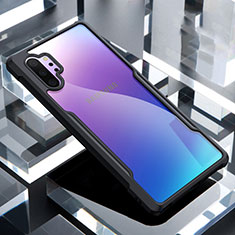 Custodia Silicone Trasparente Specchio Laterale Cover M02 per Samsung Galaxy Note 10 Plus 5G Nero