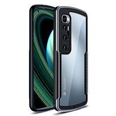 Custodia Silicone Trasparente Specchio Laterale Cover M02 per Xiaomi Mi 10 Ultra Argento