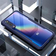 Custodia Silicone Trasparente Specchio Laterale Cover M02 per Xiaomi Mi 9 Pro Blu
