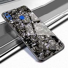 Custodia Silicone Trasparente Specchio Laterale Cover M03 per Huawei Honor 8X Nero