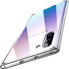 Custodia Silicone Trasparente Specchio Laterale Cover M03 per Samsung Galaxy Note 10 5G Chiaro