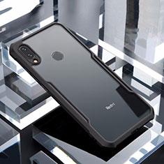 Custodia Silicone Trasparente Specchio Laterale Cover M03 per Xiaomi Redmi Note 7 Pro Nero