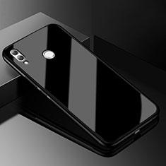 Custodia Silicone Trasparente Specchio Laterale Cover M04 per Huawei Honor 8X Nero