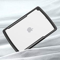 Custodia Silicone Trasparente Specchio Laterale Cover per Apple iPad 10.2 (2020) Nero