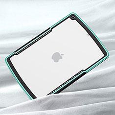 Custodia Silicone Trasparente Specchio Laterale Cover per Apple iPad 10.2 (2020) Verde