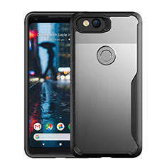 Custodia Silicone Trasparente Specchio Laterale Cover per Google Pixel 3 Nero
