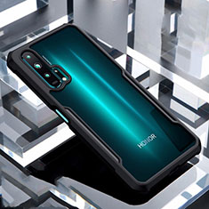 Custodia Silicone Trasparente Specchio Laterale Cover per Huawei Honor 20 Pro Nero