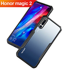 Custodia Silicone Trasparente Specchio Laterale Cover per Huawei Honor Magic 2 Nero
