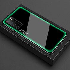 Custodia Silicone Trasparente Specchio Laterale Cover per Huawei Honor Play4 5G Verde