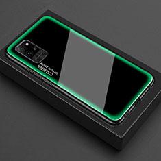 Custodia Silicone Trasparente Specchio Laterale Cover per Huawei Honor Play4 Pro 5G Verde