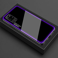 Custodia Silicone Trasparente Specchio Laterale Cover per Huawei Honor Play4 Pro 5G Viola