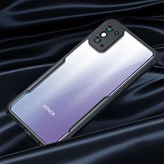 Custodia Silicone Trasparente Specchio Laterale Cover per Huawei Honor X10 Max 5G Nero