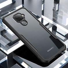Custodia Silicone Trasparente Specchio Laterale Cover per Huawei Mate 30 Lite Nero