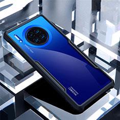 Custodia Silicone Trasparente Specchio Laterale Cover per Huawei Mate 30 Nero