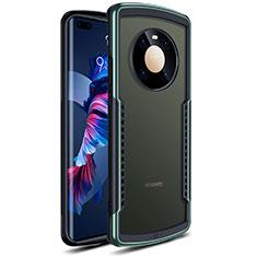 Custodia Silicone Trasparente Specchio Laterale Cover per Huawei Mate 40 Pro Verde