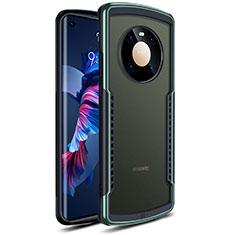 Custodia Silicone Trasparente Specchio Laterale Cover per Huawei Mate 40 Verde