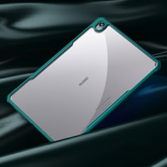 Custodia Silicone Trasparente Specchio Laterale Cover per Huawei MatePad 10.8 Ciano