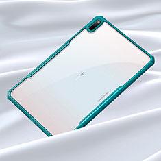 Custodia Silicone Trasparente Specchio Laterale Cover per Huawei MatePad 5G 10.4 Ciano