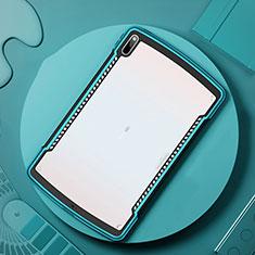 Custodia Silicone Trasparente Specchio Laterale Cover per Huawei MatePad Pro 5G 10.8 Ciano