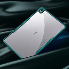 Custodia Silicone Trasparente Specchio Laterale Cover per Huawei MediaPad M6 10.8 Ciano