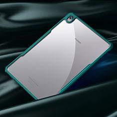 Custodia Silicone Trasparente Specchio Laterale Cover per Huawei MediaPad M6 8.4 Ciano