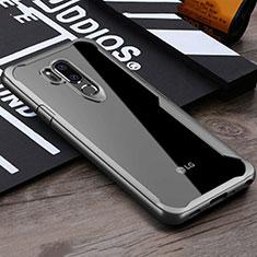 Custodia Silicone Trasparente Specchio Laterale Cover per LG G7 Grigio