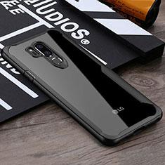 Custodia Silicone Trasparente Specchio Laterale Cover per LG G7 Nero