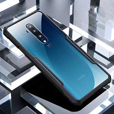 Custodia Silicone Trasparente Specchio Laterale Cover per OnePlus 7T Pro Nero