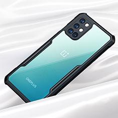 Custodia Silicone Trasparente Specchio Laterale Cover per OnePlus 8T 5G Nero