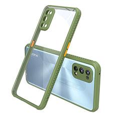 Custodia Silicone Trasparente Specchio Laterale Cover per Realme 7 Pro Verde
