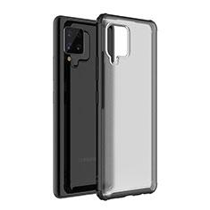Custodia Silicone Trasparente Specchio Laterale Cover per Samsung Galaxy A42 5G Nero
