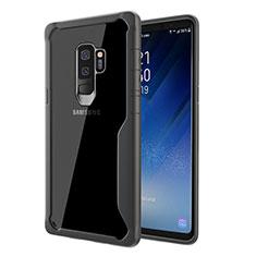 Custodia Silicone Trasparente Specchio Laterale Cover per Samsung Galaxy S9 Plus Grigio