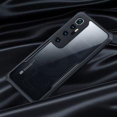 Custodia Silicone Trasparente Specchio Laterale Cover per Xiaomi Mi 10 Ultra Nero