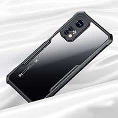 Custodia Silicone Trasparente Specchio Laterale Cover per Xiaomi Mi 10T 5G Nero