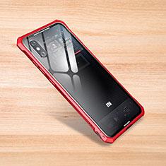 Custodia Silicone Trasparente Specchio Laterale Cover per Xiaomi Mi 8 Explorer Rosso
