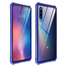 Custodia Silicone Trasparente Specchio Laterale Cover per Xiaomi Mi 9 Blu
