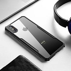 Custodia Silicone Trasparente Specchio Laterale Cover per Xiaomi Mi Mix 3 Nero
